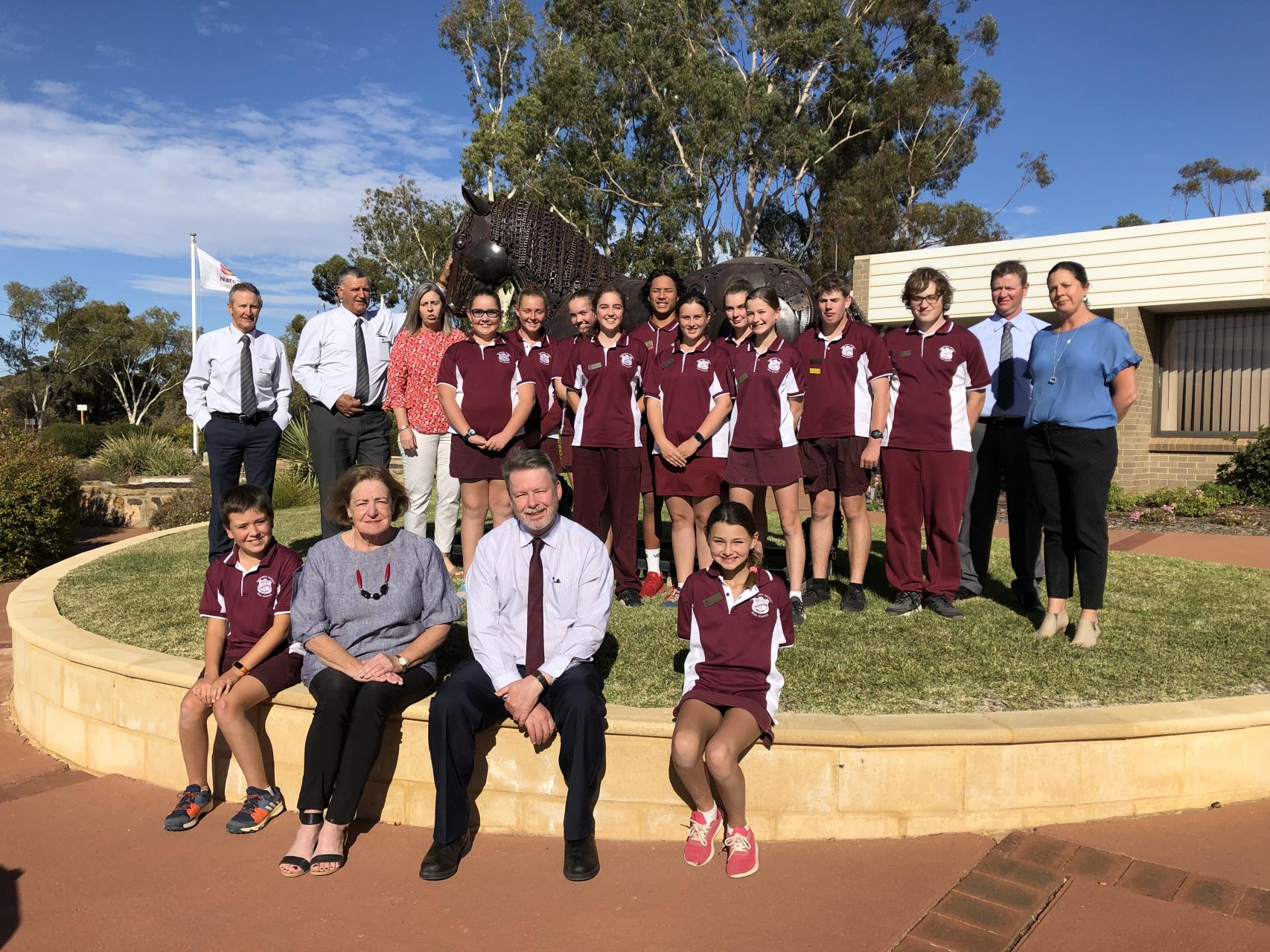 Narembeen District High School Student Councillors Meet with Council